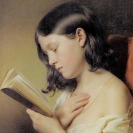 נערה קוראת 1